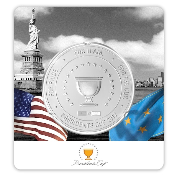 pga presidents cup coin silver front