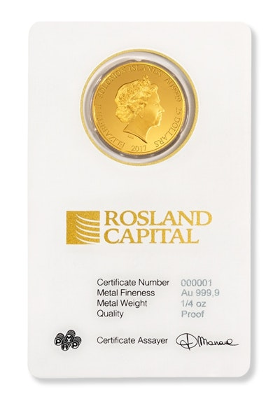 Gold Liberty Coin Card Front