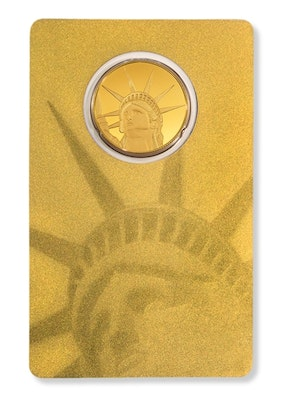 Gold Liberty Coin Card