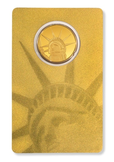 Gold Liberty Coin Card