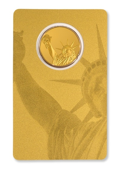 Gold Liberty Coin Card Back