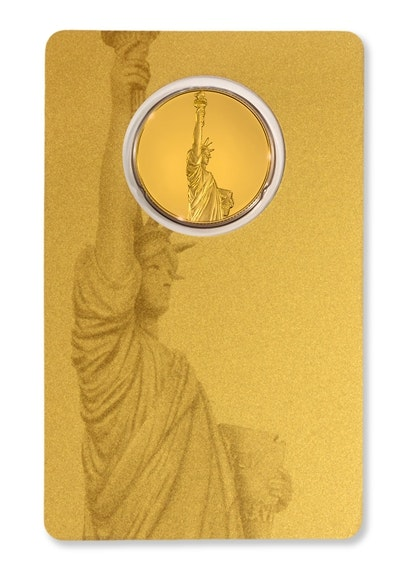 Gold Liberty Coin Card Back