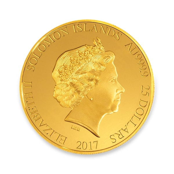 Gold Liberty Coin Front