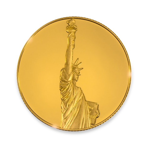 Gold Liberty Coin Back