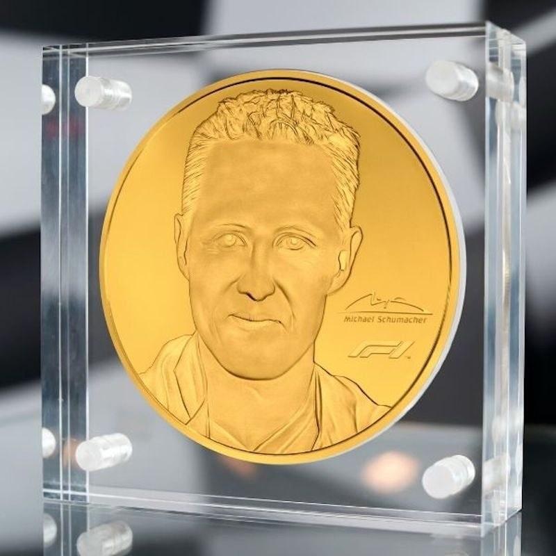 Michael Schumacher 91 oz Gold Coin