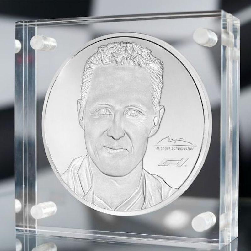 Michael Schumacher 91 oz Silver Coin