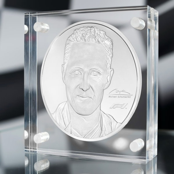 Michael Schumacher 91 oz Silver Coin