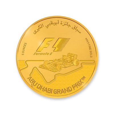 2016 ABU DHABI GRAND PRIX™ 5-oz. Gold Coin