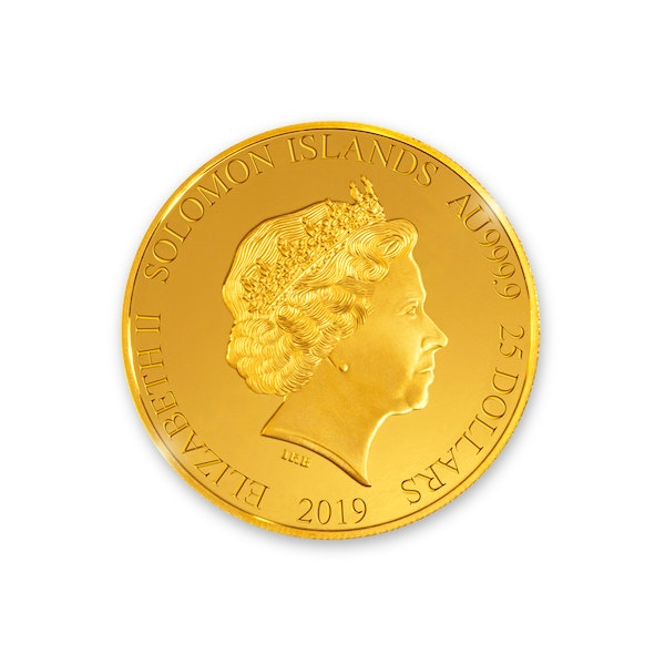 Davis Cup 2019 1/4 oz Gold Coin