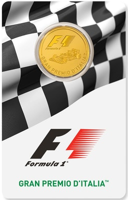 Formula 1 Gold Coin on Card