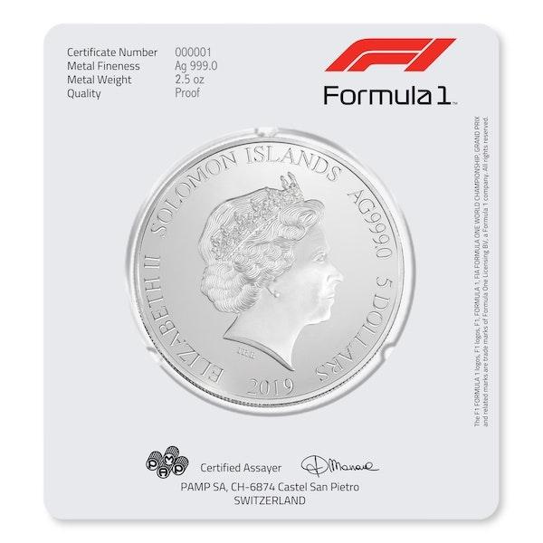 Formula 1<sup>®</sup> 2.5 oz Silver Coin 2019