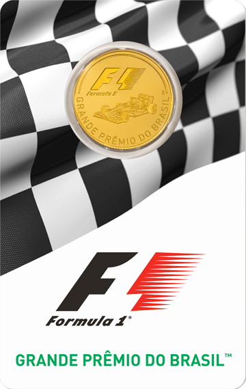 Formula 1 Gold Coin Front