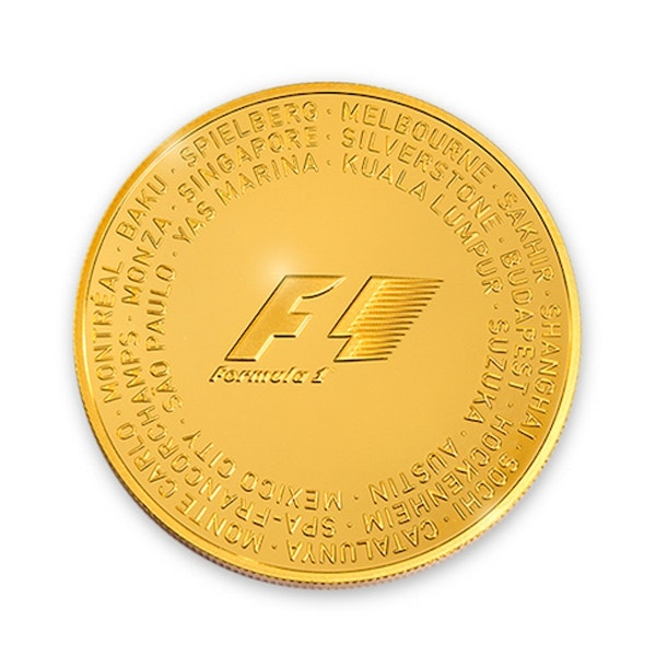 Formula 1 Abu Dhabi Gold Coin Front