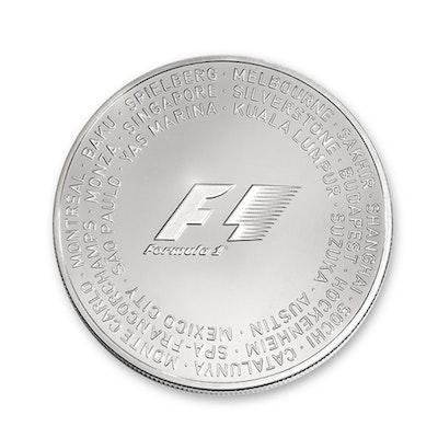 Formula 1 Abu Dhabi Silver Coin Front
