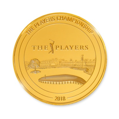 pga tour players championship gold coin back