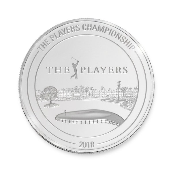 pga tour players championship silver coin back