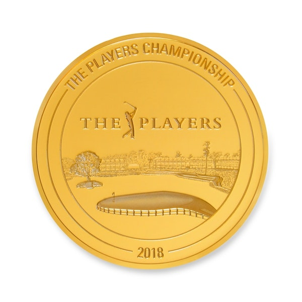 pga tour players championship kilo gold coin back