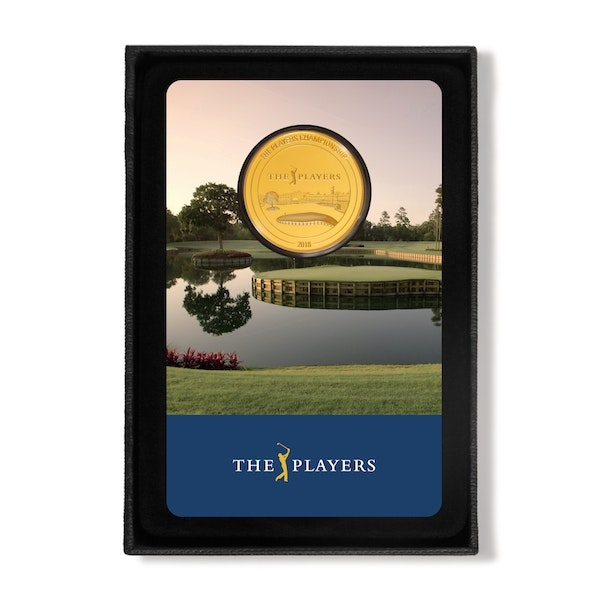 pga tour players championship gold card and box