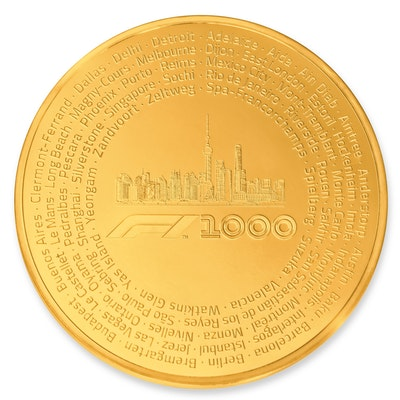 Formula 1® 1000 100 oz Gold Coin