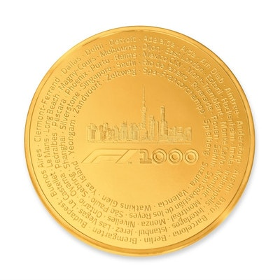 Formula 1® 1000 100 oz Gold Coin