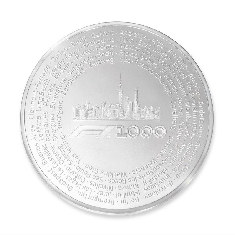 Formula 1<sup>®</sup> 1000 Kilo Silver Coin
